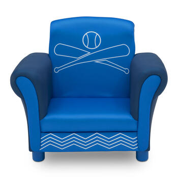 Sports Theme Blue Upholstered Children's Chair view 1