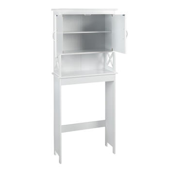 "63.25"" White 2-Door Space Saver Storage Cabinet view 2"