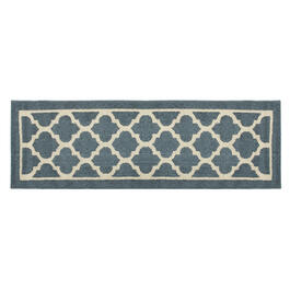 "Mohawk Home 20""x60"" Blue Geo Gate Runner Rug view 1"
