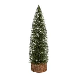 16 snowy bottle brush evergreen tree decor - Christmas Tree Shop Salem Nh