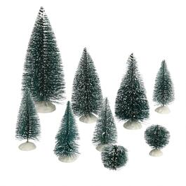 9 count snow tip trees set of 2 quick view white - White Pine Lodge Christmas Mi
