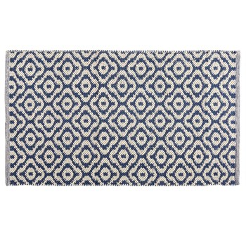 "The Grainhouse™ 27""x45"" Blue Diamond Woven Accent Rug"