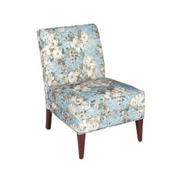 Floral Tufted Upholstered Slipper Chair