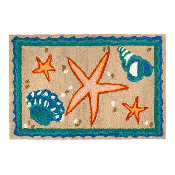 "20""x30"" Anchor Stars All-Weather Accent Rug"