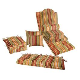 Red/Orange Stripe Indoor/Outdoor Chair Pads Collection