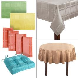 Solid Checkered Microfiber Dining Accessories