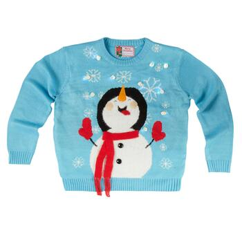Snowman Light-Up Ugly Christmas Sweater