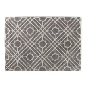 5'x7' Gray Strato Diamonds Area Rug