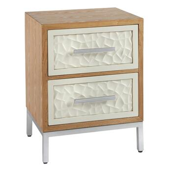 Natural/White Montez 2-Drawer Flagstone Chest