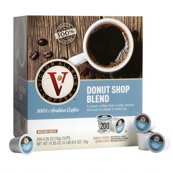 Victor Allen's® Donut Shop Coffee Pods, 200-Count