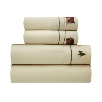 Woodsy Cabin Beige Lodge Sheet Set view 1