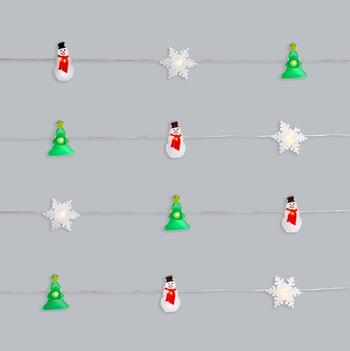 10' Christmas Icons LED String Lights with Timer