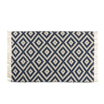 Coastal Living Seascapes™ All-Weather Blue/White Woven Diamond Rug