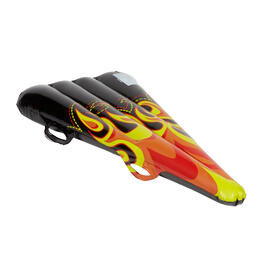Graphic Flames Inflatable Snow Sled view 1