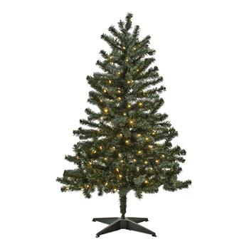 4 5 Pre Lit Artificial Christmas Tree With Clear Lights