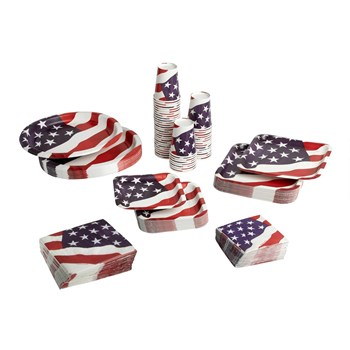 American Flag Paper Goods Set