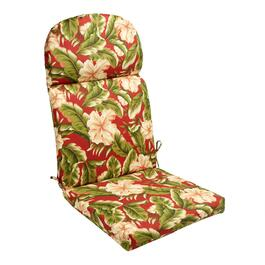 Red Palm Indoor/Outdoor Hinged Adirondack Chair Pad