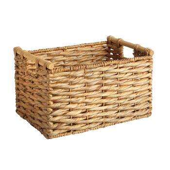 Twisted Water Hyacinth Rectangular Basket