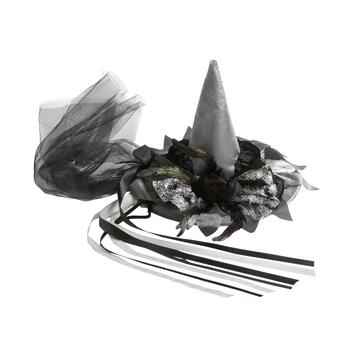 Black/Silver Witch's Hat