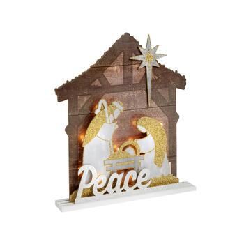 "13"" ""Peace"" LED Manger Scene"