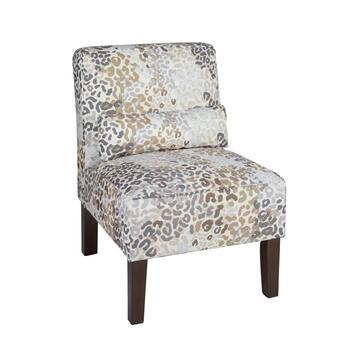 Glacier Upholstered Accent Chair with Pillow