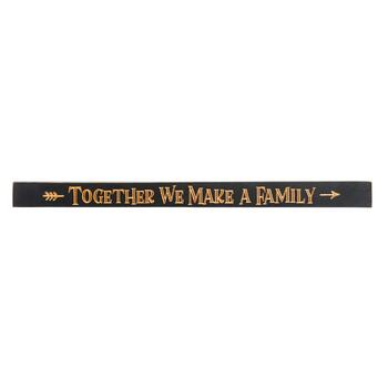 "48"" Black ""Together We Make a Family"" Wood Sign"