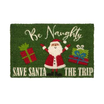 "18""x28"" ""Save Santa the Trip"" Coir Door Mat"