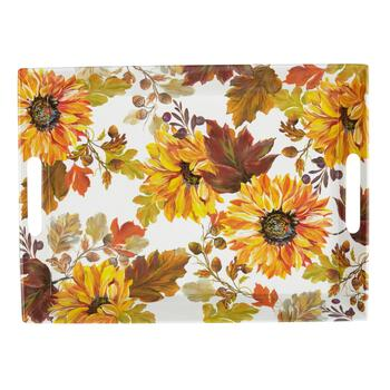 Autumn Sunflowers Melamine Serving Tray