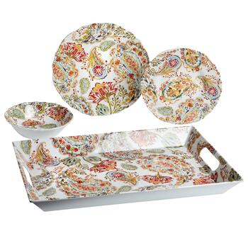 Farm Floral Paisley Melamine Dinnerware Collection