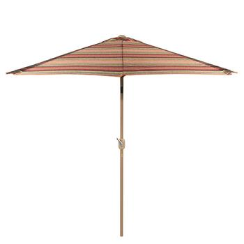 9' Earth Tone Stripes Market Umbrella