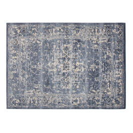 The Grainhouse™ Blue/Ivory Faded Traditional Area Rug view 1