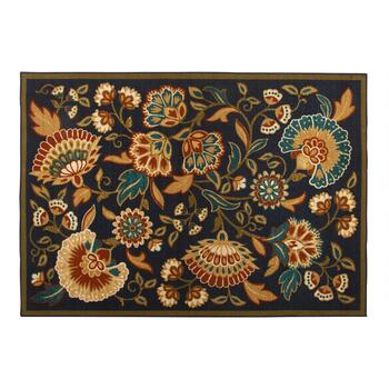 5'x7' Blue/Tan Floral Area Rug