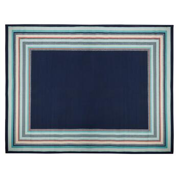 Blue Border All-Weather Rug
