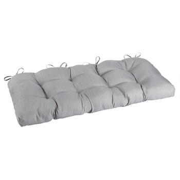 Solid Gray Indoor/Outdoor Double-U Bench Seat Pad