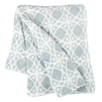 Blue Geometric Diamond Velvety Throw view 1