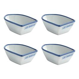"Coastal Living Seascapes™ ""Lake Champlain"" Small Boat Bowls, Set of 4"