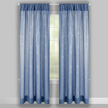 "96"" Metallic Printed Window Curtains, Set of 2 view 2"