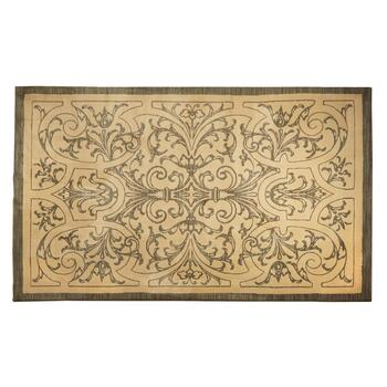 8'x11' Beige Ironwork Indoor Area Rug