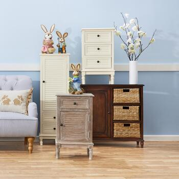 Louvered Storage Furniture Collection & Basket Storage Cabinets