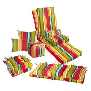 Fiesta Stripe Indoor/Outdoor Chair Cushions Collection ...