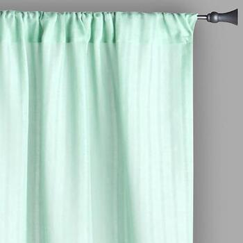 "84"" Solid Shadow Stripe Semi-Sheer Window Curtains, Set of 2"