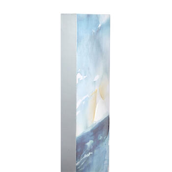 "16""x24"" Blue Ocean Abstract Canvas Wall Art view 2"