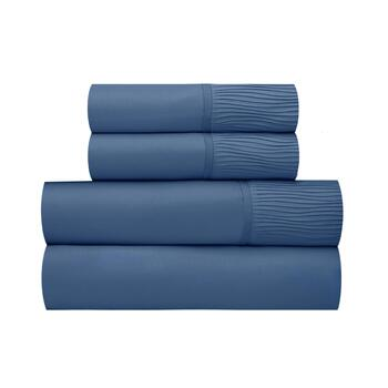 Wavy Pleats Solid Microfiber Sheet Set