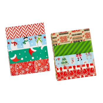 Snowman and Reindeer Folded Wrapping Paper, Set of 4 view 2