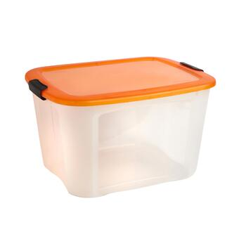 Colored Locking Lid Plastic Storage Container