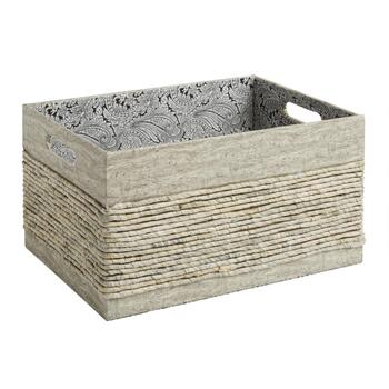 The Grainhouse™ Maize Storage Basket with Paisley Interior