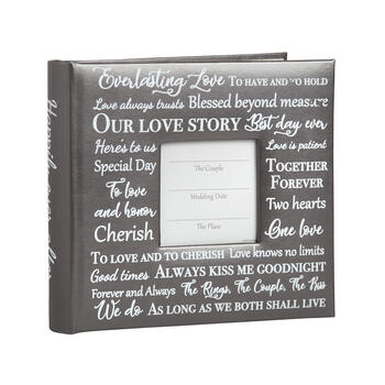 """Our Love Story"" Typography Photo Album view 1"
