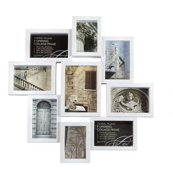 9-Opening Staggered Photo Frames Wall Collage - Christmas Tree Shops ...