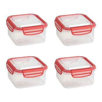 37-oz. Square Plastic Storage Containers, Set of 4