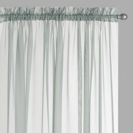 Voile Sheer Rod Pocket Window Curtains, Set of 2